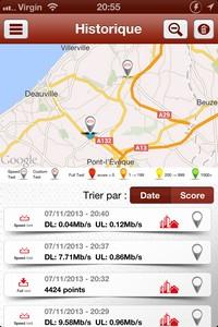 2013 11 07 20.55 L'application gratuite du Jour : 4GMark   Test de la vitesse de connexion