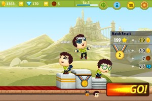 2013 11 11 21 L'application gratuite du Jour : Battle Run S2   Real Time Multiplayer Race