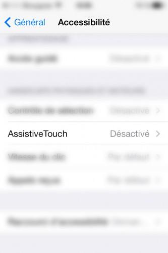 AssistiveTouch capture ecran 1 333x500 Astuce iOS : Economiser les boutons de ses appareils avec AssistiveTouch