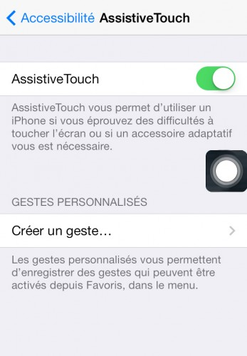 AssistiveTouch capture ecran 2 347x500 Astuce iOS : Economiser les boutons de ses appareils avec AssistiveTouch
