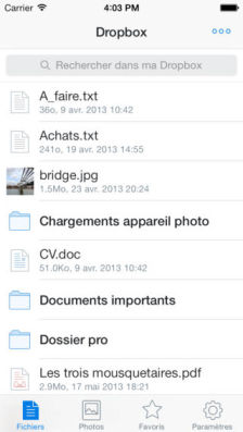 DropBox ios7 Les mises à jour d'applications AppStore du jour : Dropbox, Vine