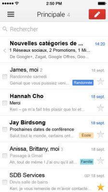 GMail Les mises à jour d'applications AppStore du jour : BBM, Gmail