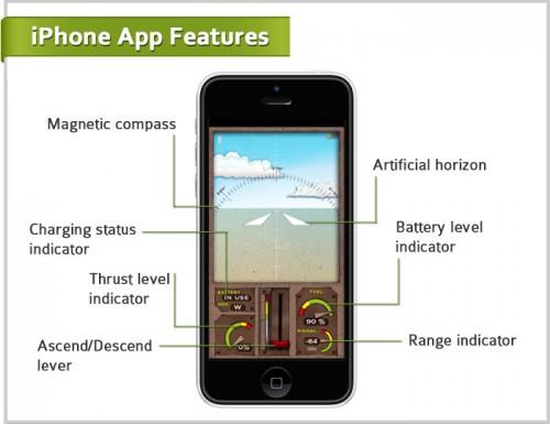 Power Up Avion 3 500x385 Accessoire : Contrôlez un avion en papier en Bluetooth avec votre iPhone ! (30$)