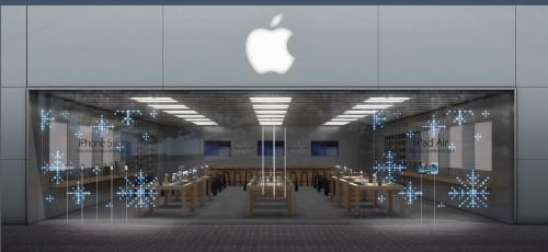 apple store noel 500x230 Les Apple Store brilleront pour Noël