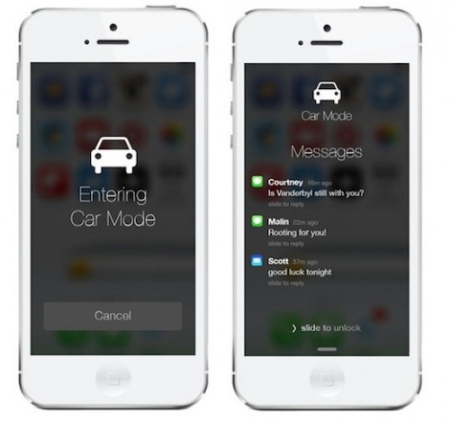 car mode 2 500x468 Concept iOS 7: mode Car pour les automobilistes