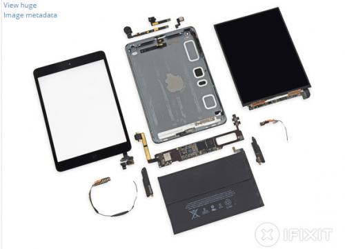 iPad Mini iFixit 500x361 LiPad Mini Retina vu de lintérieur...