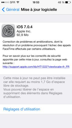 photo maj 704 La MAJ iOS 7.0.4 est disponible pour vos iPhone et iPad