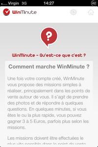 2014 01 26 14 L'application gratuite du Jour : WinMinute – gagner de l'argent sans perdre une minute