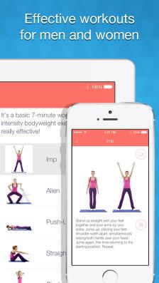 7 Minute workout Les bons plans App Store de ce samedi 18 janvier 2014