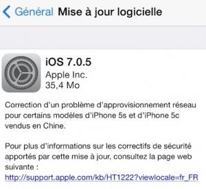 IOS 7.0.5 300x275 iOS 7.0.5 disponible pour les iPhone 5S et 5C