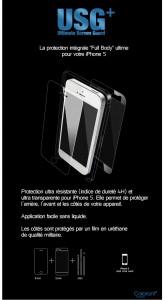 USG3 165x300 Accessoire : Film protection intégral USG + (19,95€) pour iPhone 5/5S