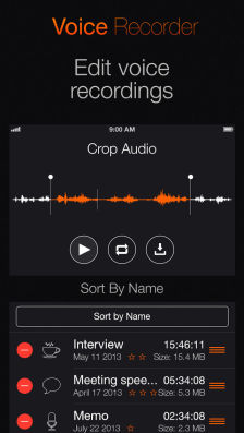 Voice Recorder Les bons plans App Store de ce samedi 18 janvier 2014