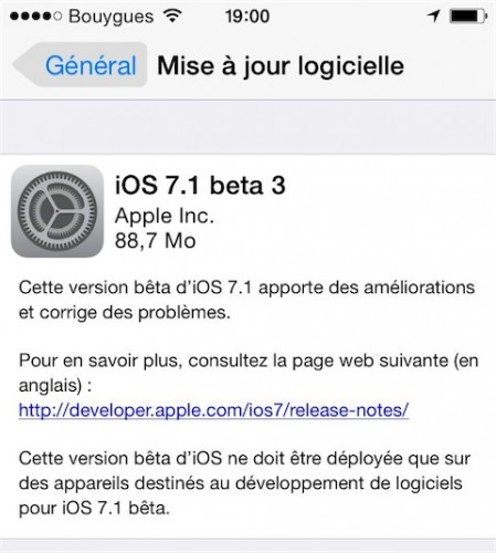ios 7 1 beta 449x500 iOS 7.1 beta 3 disponible pour les développeurs