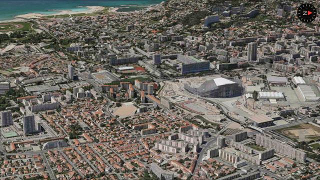 marseille flyover Plans : Marseille visualisable en 3D