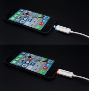 Câble de Recharge et Synchronisation Lightning LeTouch Liez Sortie Lumineuse Electroluminescent 1 295x300 Accessoire : Double Promotion, coque Active Case i5 et câble Lightning