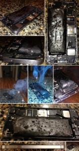 batterie iPhone 5S brule 157x300 Un iPhone 5S dont la batterie chauffe, fume et gonfle !