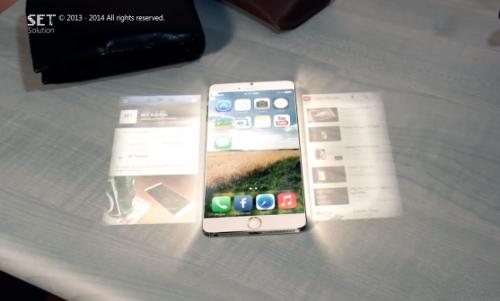 iphone 6 holo1 500x301 Concept : LiPhone du futur