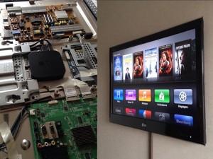 Apple TV intégrée TV 1 300x225 Une Apple TV dans une TV