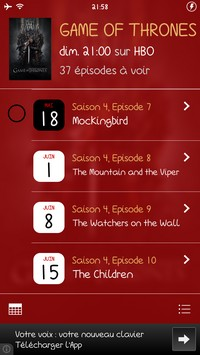 2014 05 20 21.58 L'application gratuite du Jour : TV Show Tracker 3