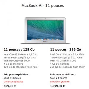 MacBook Air 2014 11 Pouces 300x300 MacBook Air : la nouvelle gamme disponible et à moins de 900€