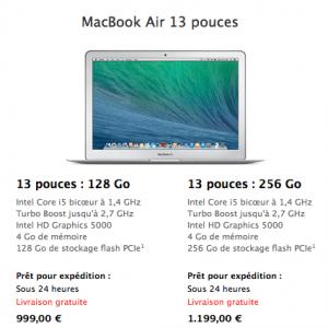 MacBook Air 2014 13 Pouces 300x300 MacBook Air : la nouvelle gamme disponible et à moins de 900€