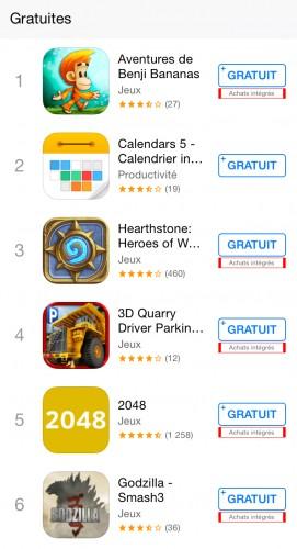 freemium appstore 271x500 Les applications Freemium sous surveillance en Italie