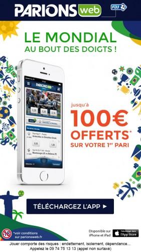 FDJ iphone 640x1136 Mondial 281x500 L'application gratuite du Jour : ParionsWeb