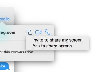 Messages Screenshare feature 300x237 Yosemite : le partage d'écran disponible sur iMessage