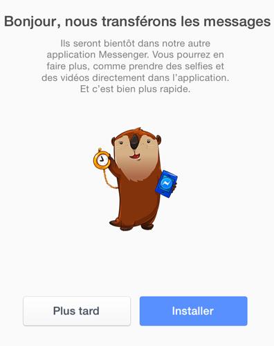 Annonce Messenger Lapplication Messenger de Facebook est maintenant obligatoire