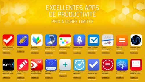 promo appstore productivite 500x284 Bon plan : 20 apps de productivité en promo sur lApp Store