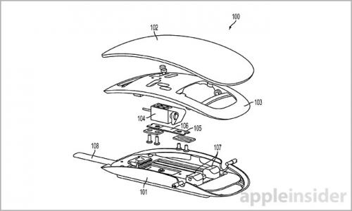 souris haptique2 500x300 Brevet Apple : une souris avec capteurs de force et retour haptique