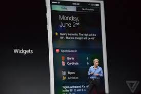 widgets Apple autorise les widgets dans le nouveau iOS 8