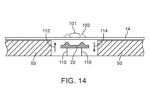 brevetecran Apple vise lécran intégral et des boutons invisibles