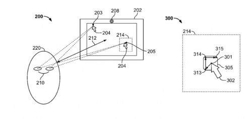 brevet eye track 500x237 Chez Apple, les yeux pourraient remplacer la souris