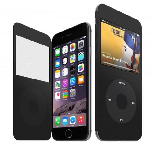coque ipodiphone 2 500x469 Une coque pour rassembler iPhone 6 et iPod Classic