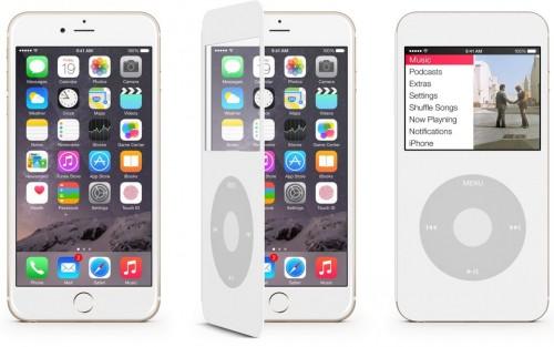 coque ipodiphone 500x313 Une coque pour rassembler iPhone 6 et iPod Classic