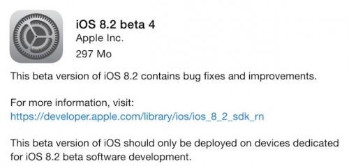 iOS 8.1.2 B41 500x238 Les tests continuent sur iOS 8.2 avec la version bêta n°4
