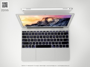 macbookair concept 1 Le designer Hajek s'est attaqué aux MacBook Air et iPad Air Plus