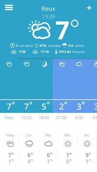 2015 02 15 14.39 Weather Glance (1,99€) : Une jolie application de météo
