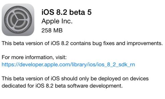 màj iOS 8.2b51 L'Apple Watch mieux connue avec la bêta 5 de iOS 8.2