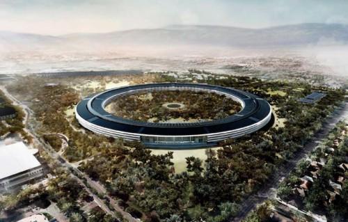 solaire campus apple 500x319 Pourquoi Apple est un géant vert de la Tech