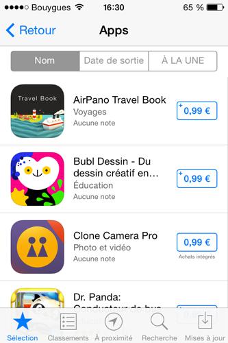 promo App Store apps Bons plans : 24 applications en promotion à 0,99€ sur lApp Store