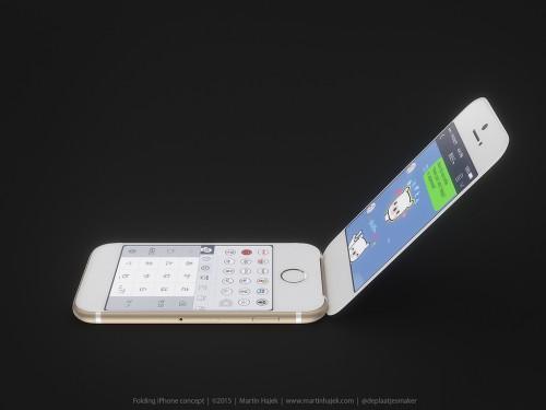 clapet1 500x375 Concept : un iPhone à clapet