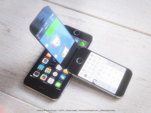 clapet2 500x375 Concept : un iPhone à clapet